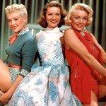 """Betty Grable, la Bacall e Marilyn in """"Come sposare un milionario"""" (1953)"""