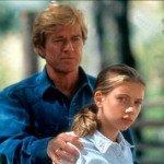 """Scarlett Johansson appena tredicenne ne """"L'uomo che sussurrava ai cavalli"""" (1998) di e con Robert Redford"""