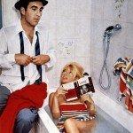 Michel Piccoli e B.B. ne Il disprezzo (1963) di Jean-Luc Godard