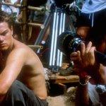 Sul set di The Beach (2000), con il regista Danny Boyle.