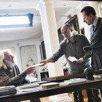 Con Giuseppe Tornatore e Geoffrey Rush sul set de La migliore offerta, 2013