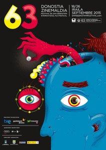 La locandina ufficiale del Festival del cinema di San Sebastián 2015