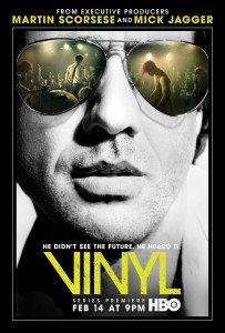 Il poster ufficiale della serie tv Vinyl