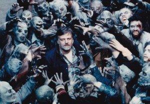 Romero sul set de Il giorno degli zombi