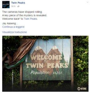 L'annuncio ufficiale della fine delle riprese della nuova stagione della serie tv Twin Peaks