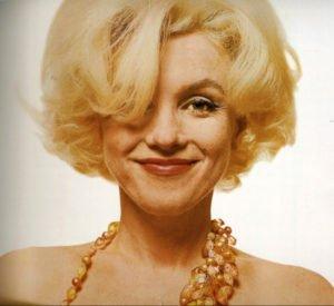 Una delle immagini della Monroe scattate da Bern Stern