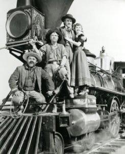 """Un'immagine promozionale de """"La via dei giganti"""" di Cecil B. DeMille"""