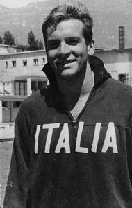 Carlo Pedersoli all'epoca della sua militanza nella nazionale italiana di nuoto