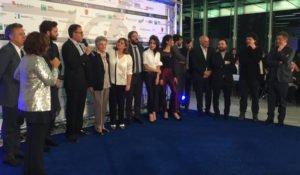 """La Banda Caligari riceve gli speciali Nastri d'Argento 2016 assegnati all'intera produzione di """"Non essere cattivo"""", eletto film dell'anno (courtesy Francesca Serafini)"""