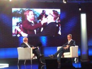 Un momento dell'intervista a Nicolas Winding Refn