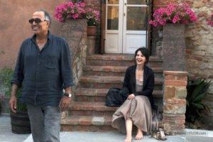 """Kiarostami e Juliette Binoche sul set di """"Copia conforme"""""""