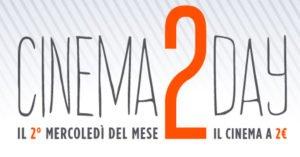 Arriva Cinema2Day: si va al cinema a soli 2 euro