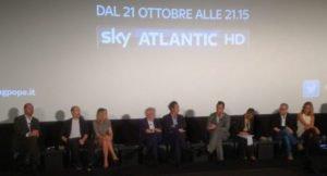 Ancora un momento della conferenza stampa romana di 'The Young Pope'