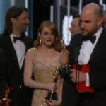 Il cast di La La Land sul palco con l'Oscar... sbagliato!