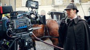 "Benedict Cumberbatch sul set de ""L'abominevole sposa"""