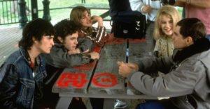 "Joaquin Phoenix, Casey Affleck, Alison Folland, Nicole Kidman e Van Sant sul set di ""Da morire"""