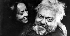 """La Moreau e Orson Welles nel """"Falstaff"""" (1965)"""