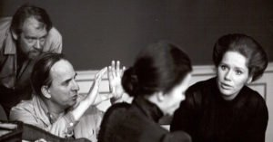 """Bergman sul set di """"Sussurri e grida"""""""
