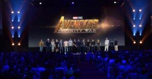 I supereroi Marvel sul palco del D23 Expo 2017