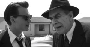 "Johnny Depp e Landau nel film ""Ed Wood"""