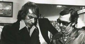Tomas Milian e Lenzi sul set de Il cinico, l'infame, il violento