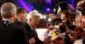 David Lynch sul red carpet della Festa del Cinema di Roma 2017