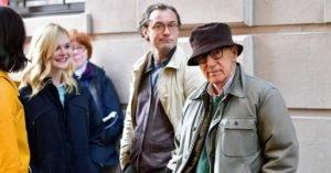 Elle Fanning, Jude Law e Woody Allen sul set di A Rainy Day in New York