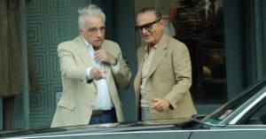 Scorsese e Joe Pesci sul set di The Irishman