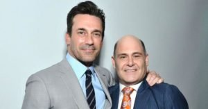Jon Hamm (Don Draper, in Mad Men) e Matthew Weiner