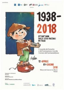La locandina della mostra 'Ottant'anni dalle leggi razziali in Italia'