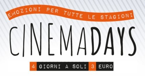CinemaDays 2018: tutti i film in sala a 3 euro