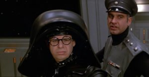 film balle spaziali parodia guerre stellari rick moranis lord casco nero george wyner colonnello nunziatella