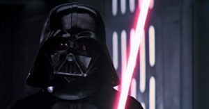 saga star wars darth vader spada laser casco nero
