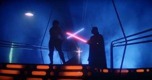 saga star wars limpero colpisce ancora combattimento luke dart vader spade laser sono tuo padre