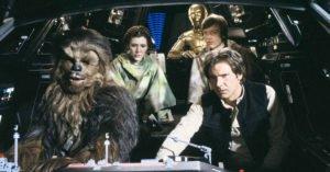 saga star wars cast attori a bordo del millennium falcon chewbecca