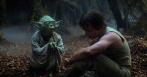 saga star wars luke skywalker yoda addestramento