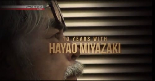 "Come vedere gratis il nuovo documentario ""10 Years With Hayao Miyazaki"""