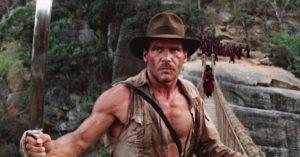 'Indiana Jones e il tempio maledetto scena del ponte