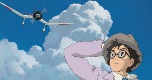 si alza il vento miyazaki aereo cielo blu nuvole jiro