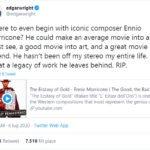 morte ennio morricone twitter edgar wright