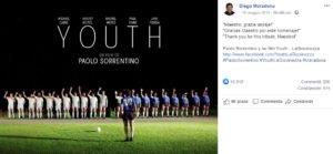 facebook maradona ringrazia paolo sorrentino citazione youth