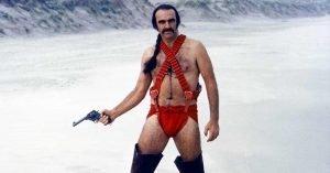 sean connery zardoz zed costume rosso