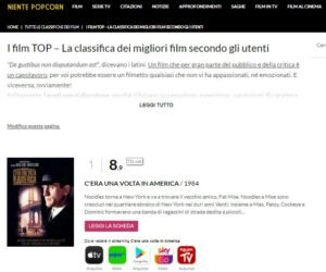 schermata nientepopcorn film lista siti streaming