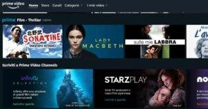 schermata amazon prime video channels