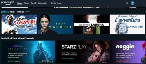 Cos'è il servizio Amazon Video Channels, appena attivato in Italia?