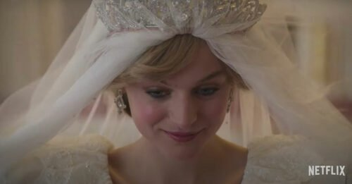 """E se il vero protagonista di """"The Crown 4"""" fosse l'abito da sposa di Lady Diana?"""