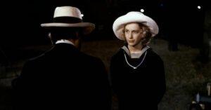 tadzio cappello vestito alla marinara von aschenbach spalle