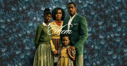 serie tv sul razzismo them amazon immagine promozionale cast sfondo carta da parati fiorita