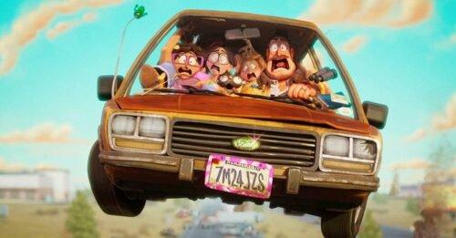 i mitchell contro le macchine cartoni animati famiglia mitchell in macchina