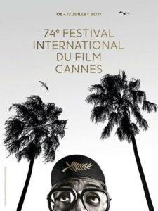 locandina ufficiale cannes 2021 b/n palme spike lee occhiali cappellino palma doro